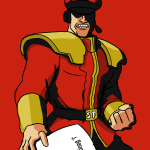 Jim harbaugh as M. Bison