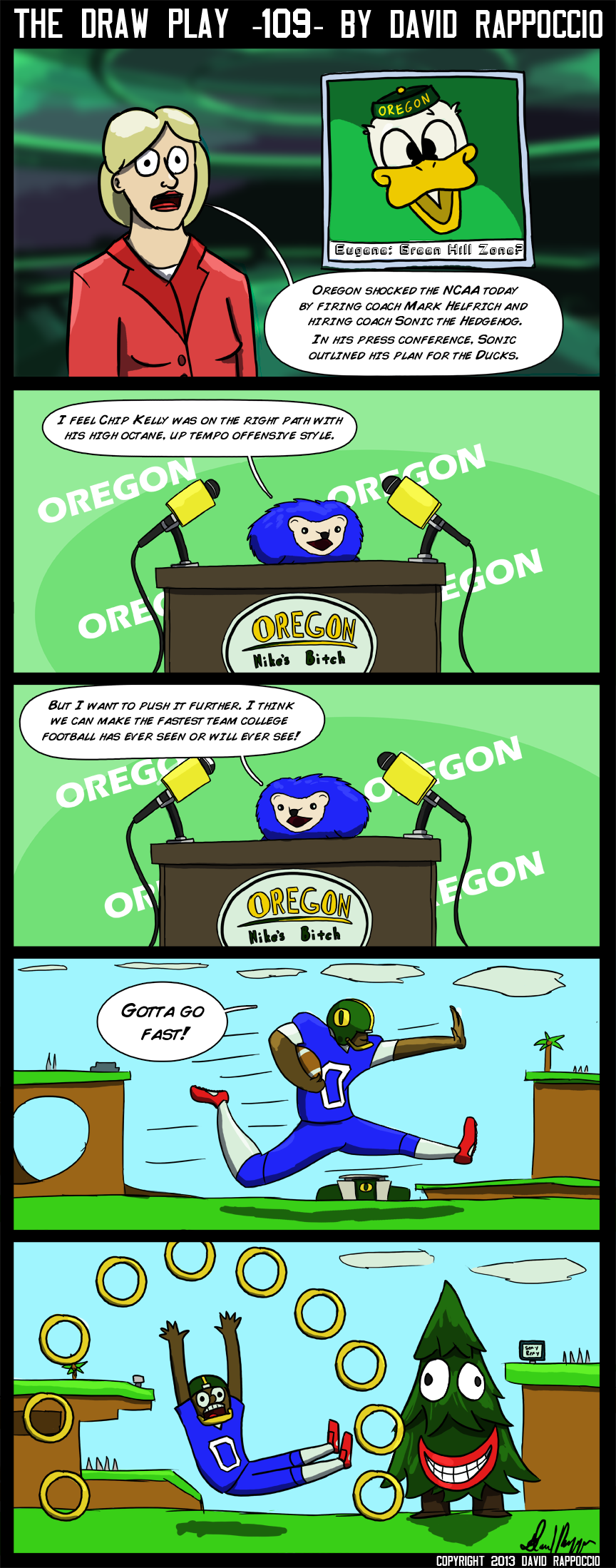 You got college in my NFL comic!