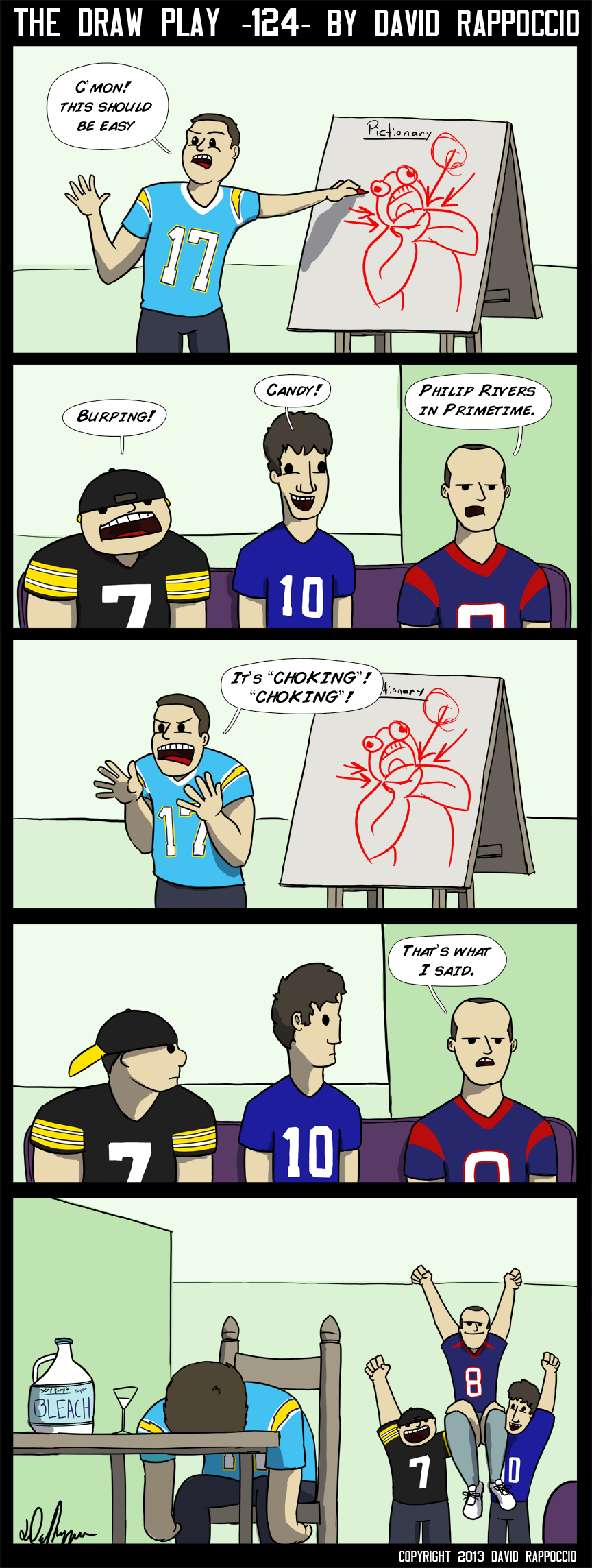 Monday Night Meltdown, a Philip Rivers copyright.