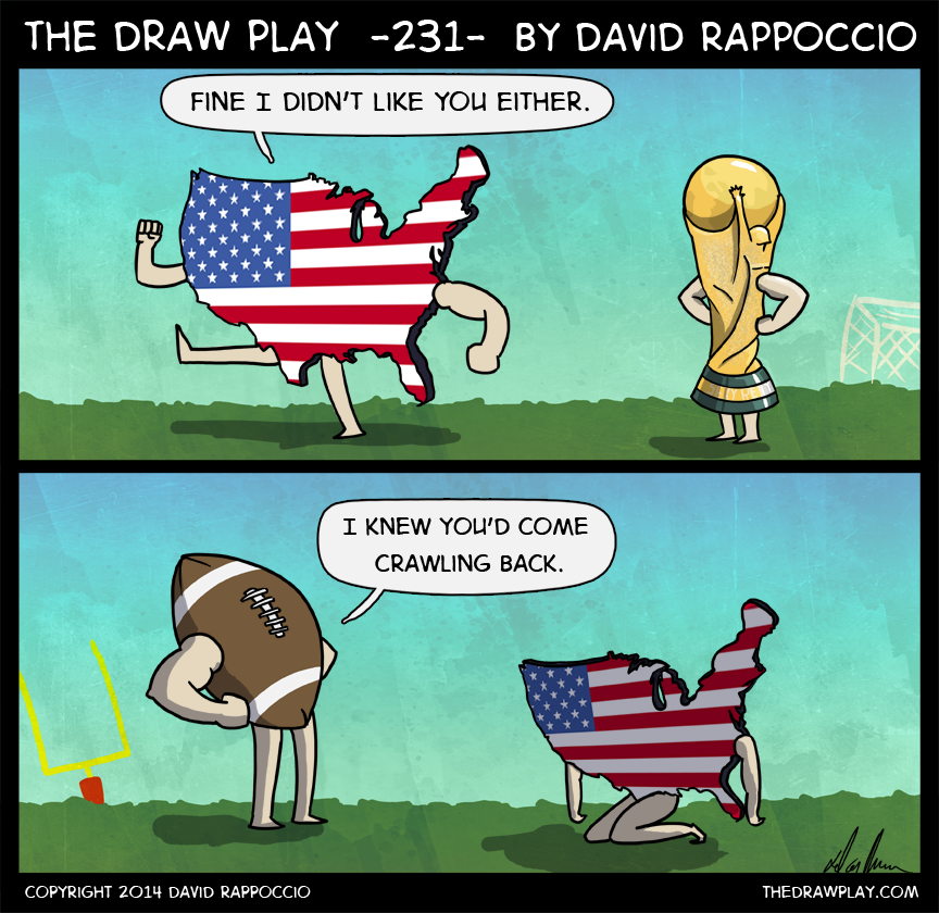 America, first round: 1 win, 1 tie, 1 loss. They made the second round with a 1-1-1 record. Soccer rules are dumb.