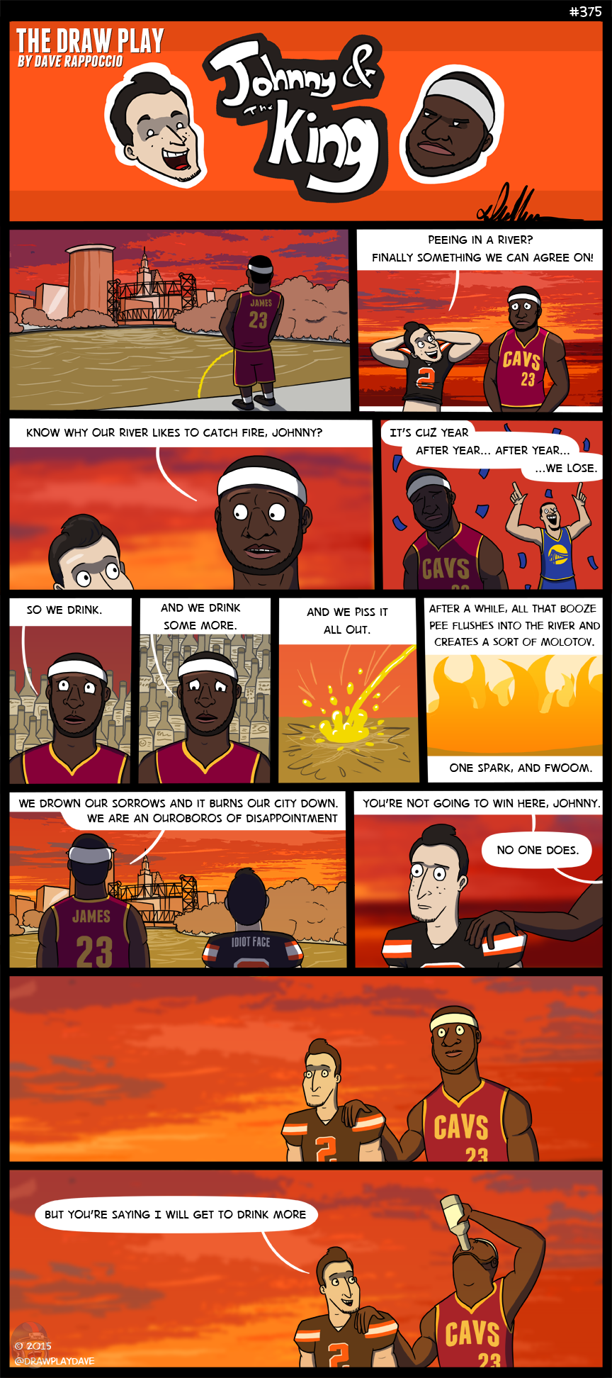 Can I get extra credit for finding a way to use Oroboros in a comic about athletes peeing in a river