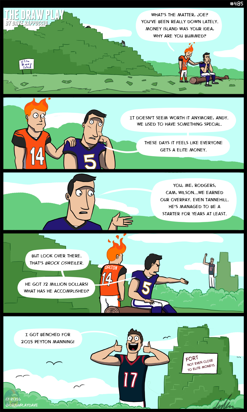 Could Brock Osweiler build a money fort so tall that he himself could not see over it?