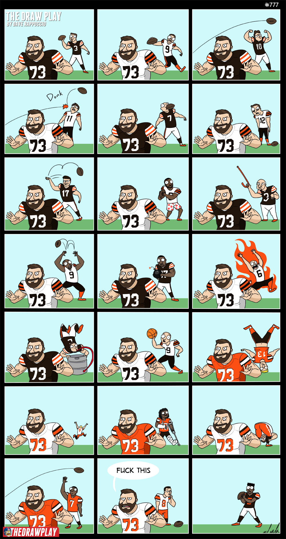 If you could grow the perfect left tackle in a lab, it would be Joe Thomas. But that would be kinda creepy.